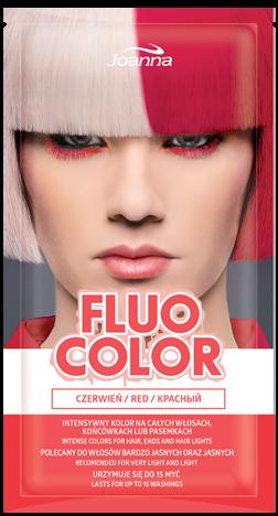 Nowość! JOANNA Fluo Color Szamponetka koloryzująca Czerwień 35 g