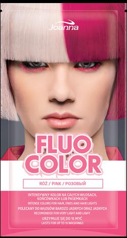 Nowość! JOANNA Fluo Color Szamponetka koloryzująca Róż 35 g