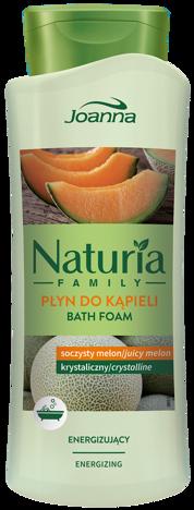 Nowość! JOANNA NATURIA FAMILY Płyn do kąpieli Soczysty Melon energizujący 750ml