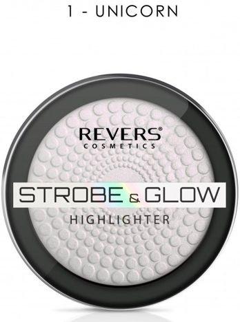 Nowość! REVERS Rozświetlacz STROBE & GLOW HIGHLIGHTER 01 UNICORN 8 g