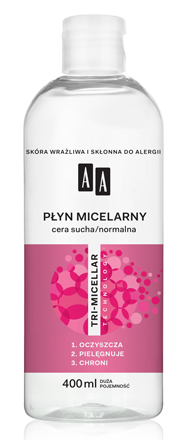 OCEANIC AA TRI-MICELLAR Płyn micelarny cera sucha/normalna 400 ml