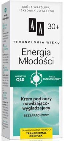 OCEANIC AA Technologia Wieku 30+ Energia Młodości Krem pod oczy nawilżająco-wygładzający 15 ml