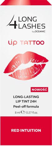 OCEANIC Long4Lashes Long lasting lip tatoo tint 24H Red Intuition 8 ml
