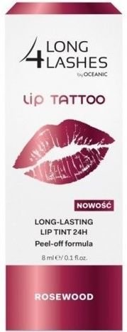 OCEANIC Long4Lashes Long lasting lip tatoo tint 24H Rosewood 8 ml