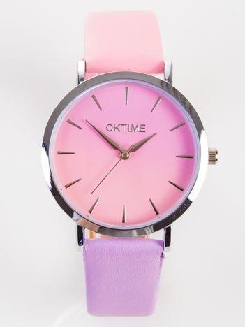 OMBRE różowo fioletowy zegarek damski