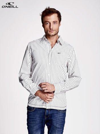O'NEILL Biała koszula męska wzór pasków