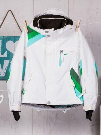 O'NEILL Biała kurtka narciarska dla dziewczynki
