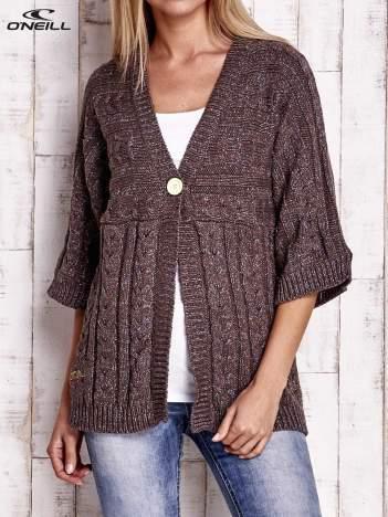 O'NEILL Brązowy melanżowy sweter z dzianiny
