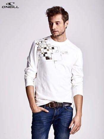 O'NEILL Ecru bluzka męska z geometrycznym nadrukiem
