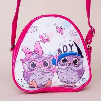 OWL Różowa Torebka Dziewczęca SOWY