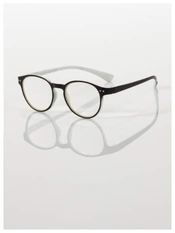 Okulary korekcyjne  +3.5 D dwukolorowe ,do czytania, stylizowane na RAY BAN +GRATIS PLASTIKOWE ETUI I ŚCIERECZKA Z MIKROFIBRY