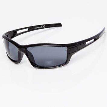 Okulary przeciwsłoneczne męskie w stylu sportowym szare