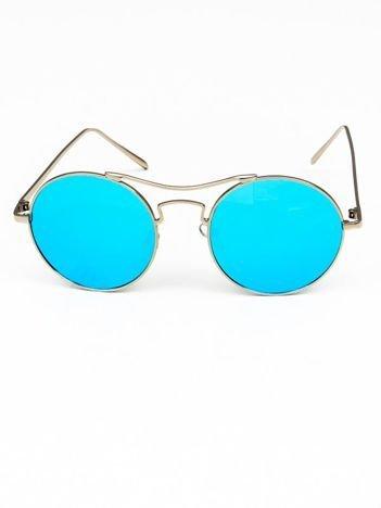 Okulary przeciwsłoneczne typu LENONKI duże okrągłe LUSTRZANKI