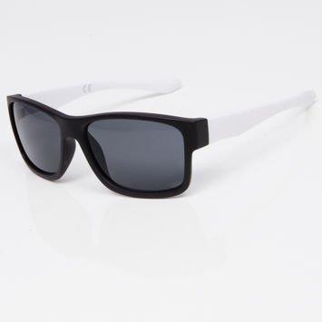 Okulary przeciwsłoneczne w stylu WAYFARER czarno-białe