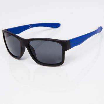 Okulary przeciwsłoneczne w stylu WAYFARER niebiesko-czarne szkło szare
