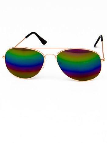 Okulary w stylu PILOTKI/AVIATOR unisex z szybą OMBRE