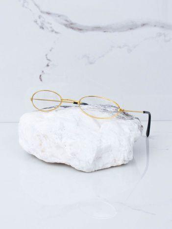 Okulary złote oprawki