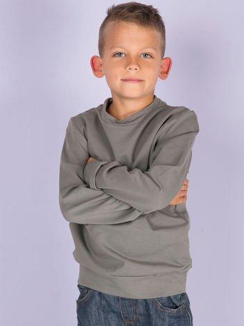 Oliwkowa gładka bluza dziecięca