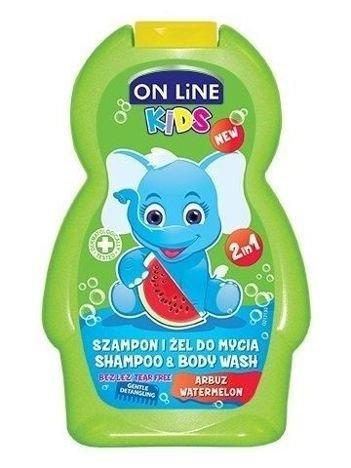 On Line Kids Szampon i żel do mycia ciała 2 w 1 Arbuz  250 ml