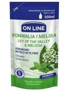 On Line Mydło w płynie kremowe Konwalia i Melisa - uzupełnienie  500 ml
