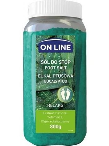 On Line Sól do stóp eukaliptusowa  800 g