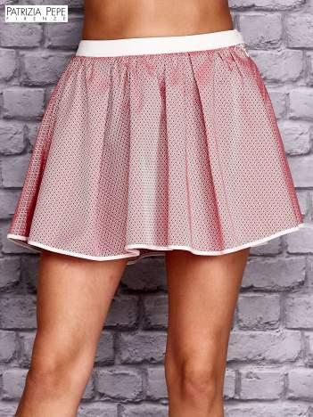 PATRIZIA PEPE Różowa rozkloszowana spódnica