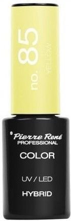 PIERRE RENE Color LED UV Hybrid/ Lakier hybrydowy 085 YELLOW 6 ml