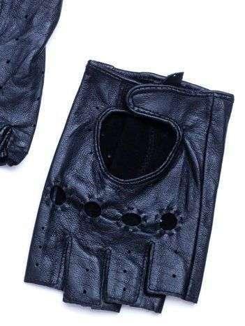 PREMIUM  Czarne Skórzane Męskie Rękawiczki CAŁUSKI