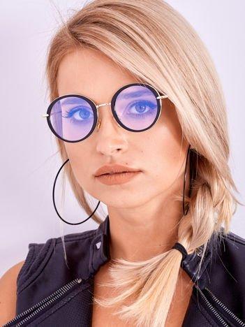 PREMIUM Czarno-Złote Okulary Zerówki Z Powłoką Antyrefleksyjną