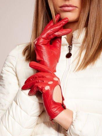 PREMIUM QUALITY Czerwone Skórzane Damskie Rękawiczki CAŁUSKI