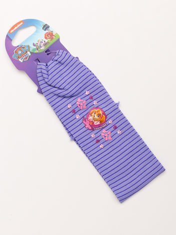 PSI PATROL Opaska do włosów z aplikacją Liliowa w fioletowe paski