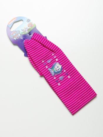 PSI PATROL Opaska do włosów z aplikacją Różowa w białe paski