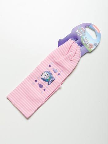 PSI PATROL Opaska do włosów z aplikacją Różowa w paski