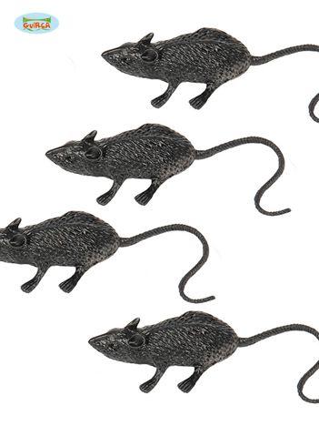 Paczka czarnych myszy na imprezy 4 sztuki
