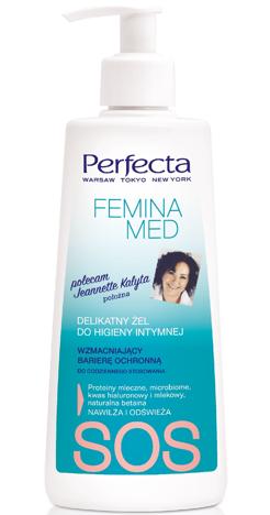 Perfecta Femina Med SOS Delikatny Żel wzmacniający barierę ochronną do higieny intymnej  250 ml