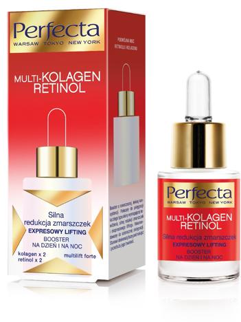 Perfecta Multi-Kolagen Retinol Booster redukujący zmarszczki na dzień i noc 15 ml