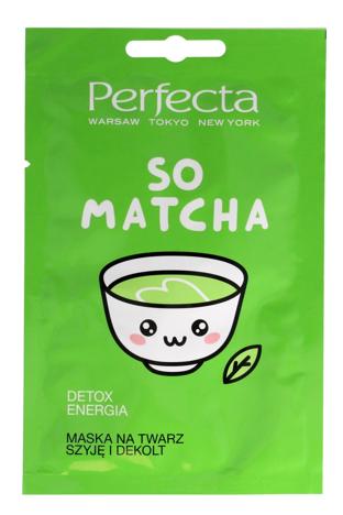 Perfecta So Matcha Maska na twarz, szyję i dekolt Detox-Energia 10 ml