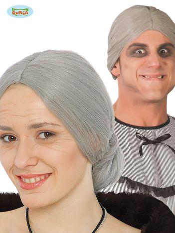 Peruka siwe włosy
