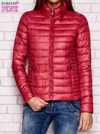 Pikowana kurtka przejściowa czerwona