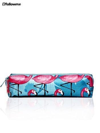 Piórnik szkolny we flamingi
