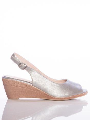 80591e77266c7 Platynowe sandały SERGIO LEONE z metalicznym połyskiem