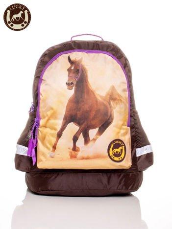 Plecak szkolny z nadrukiem konia