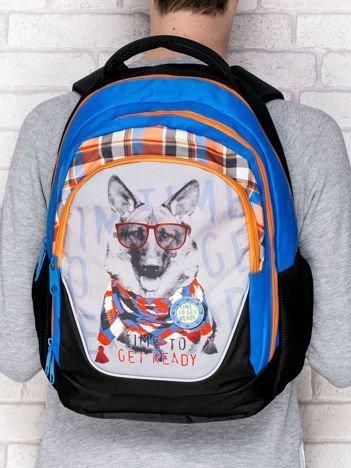 Plecak szkolny z nadrukiem psa