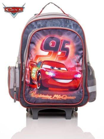 Plecak szkolny z rączką na kółkach z motywem CARS