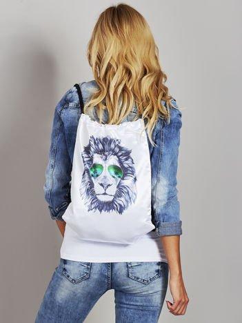 Plecak worek z nadrukiem lwa