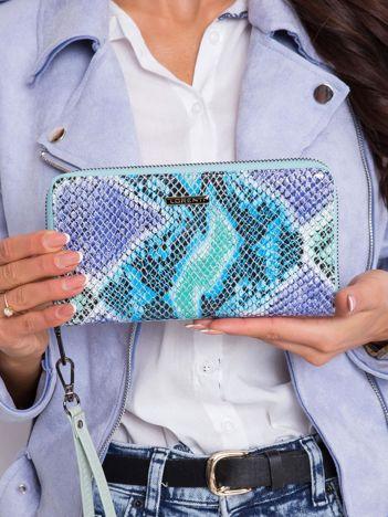 Podłużny damski portfel z motywem zwierzęcym