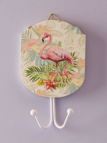 Podwójny wieszak z flamingiem