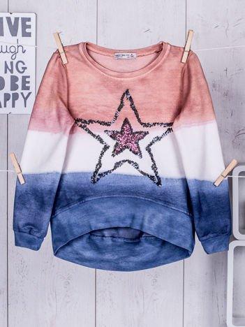 Pomarańczowa bluza dziewczęca z gwiazdą