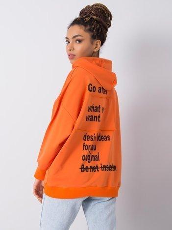 Pomarańczowa bluza z nadrukiem Mirembe