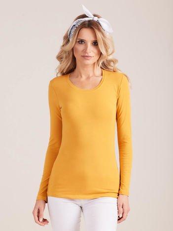 Pomarańczowa bluzka z długim rękawem